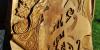 Řezba - zátiší s houslemi a motivem vína