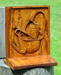 Dřevořezba - cena na gulášové slavnosti
