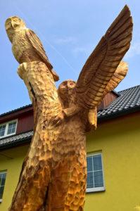 dřevořezba sovičky jabloň