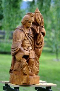dřevořezba socha sv. floriána