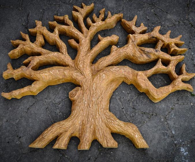 strom života dřevořezba